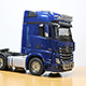 1/14 Mercedes-Benz Actros(악트로스) 3363 Gigaspace(기가스페이스) 6x4 Pearl Blue