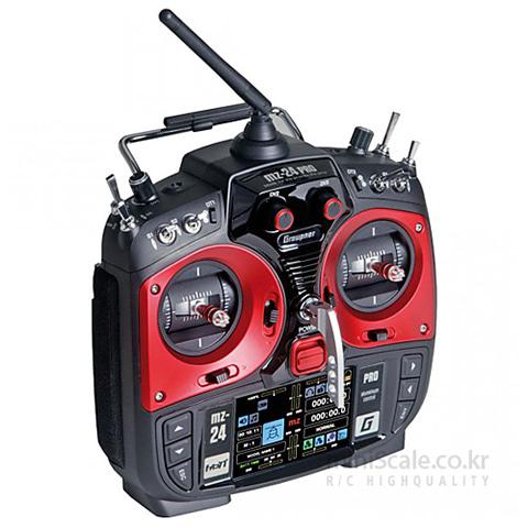 "mz-24 PRO 12 Channel 2.4GHz HoTT 3.5"" TFT LCD 그라프너(Graupner/SJ) 미니스케일"