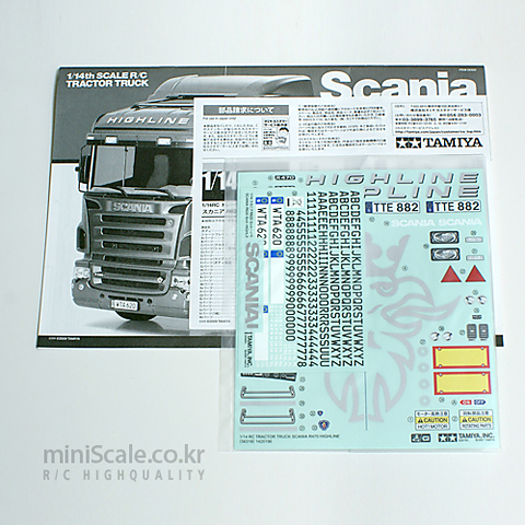 Scania R620 Sticker Bag / 타미야(Tamiya)