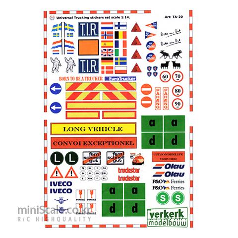 Universal Trucking Sticker Set 베르켈크(Verkerk) 미니스케일