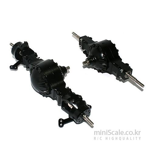 Aluminum CNC 4x4 Axle Set / 미니스케일(Miniscale)