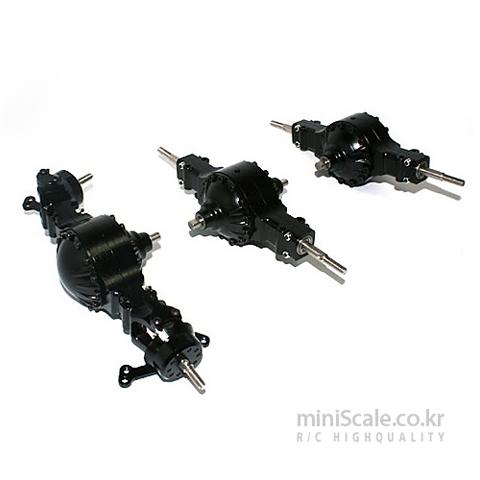 Aluminum CNC 6x6 Axle Set 미니스케일(Miniscale) 미니스케일