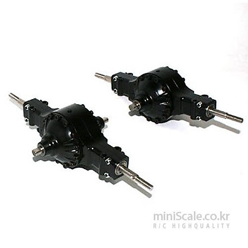 Aluminum CNC Rear Axle Set / 미니스케일(Miniscale)