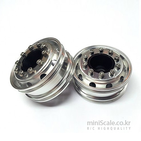 Aluminum Front Wheels Silver / 미니스케일(Miniscale)