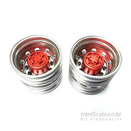 Aluminum Rear Wheels Red / 미니스케일(Miniscale)