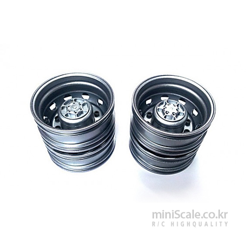 Aluminum Rear Wheels Titanium / 미니스케일(Miniscale)