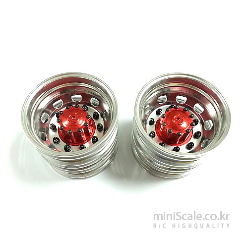 Reality Aluminum Rear Wheels(Black Nut) / 미니스케일(Miniscale)